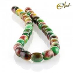 Jade multicolor – talla barril 14x11mm