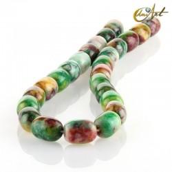 Jade multicolor – talla barril 16x12mm