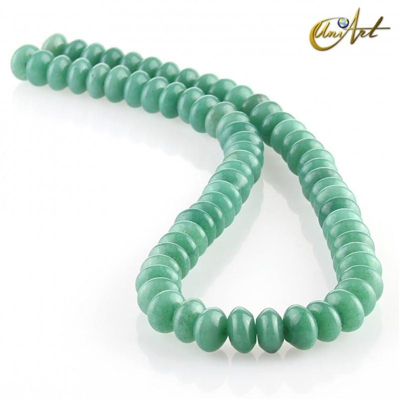 Jade verde – talla rondelle 10x6mm