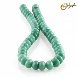 Jade verde – talla rondelle 12x8mm