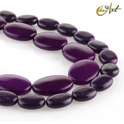 Purple Jade Oval Beads