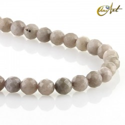 Faceted gray jade balls