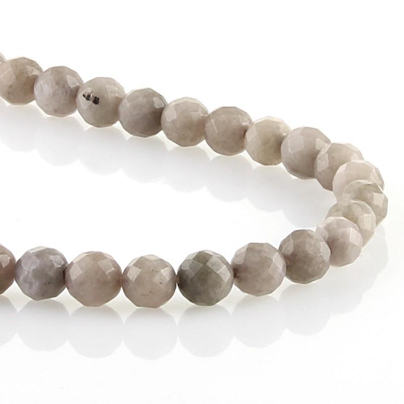 Jade gris - bolas facetadas
