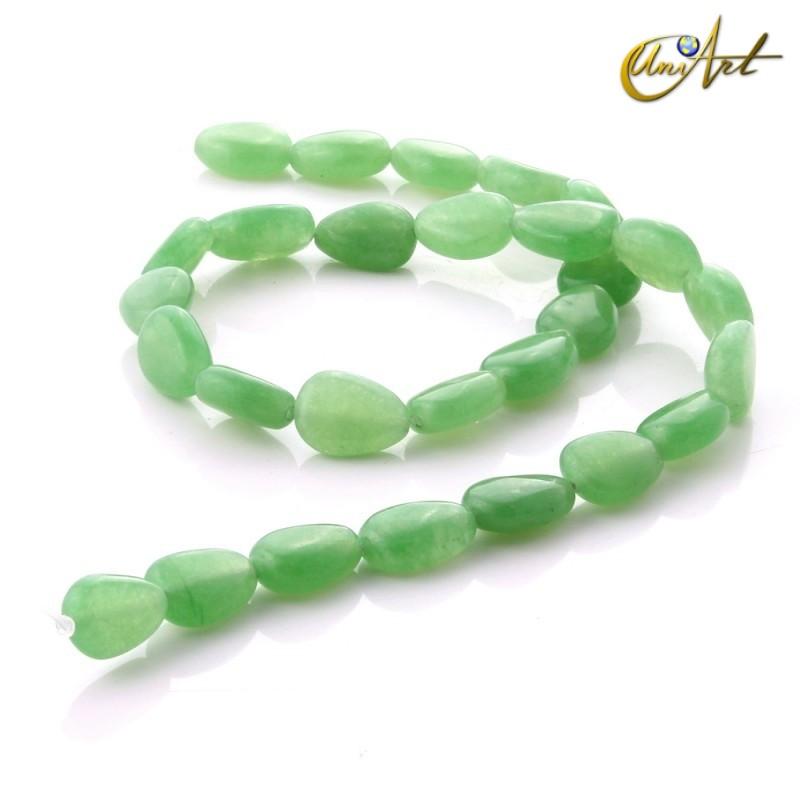 Jade verde - talla pera 13 mm.