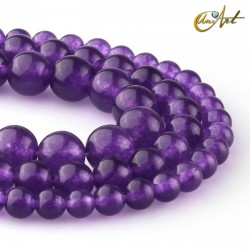 Purple jade beads