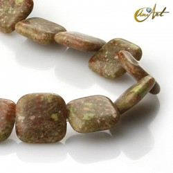 Unakite square beads