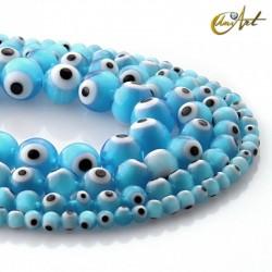 Cuentas de ojo turco (azul claro)
