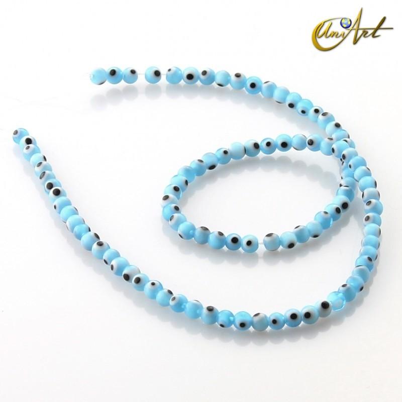 Ojo Turco azul claro - cuentas 4 mm