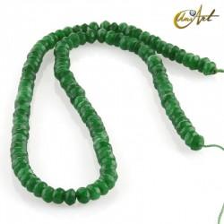Jade verde - talla rondelle facetada
