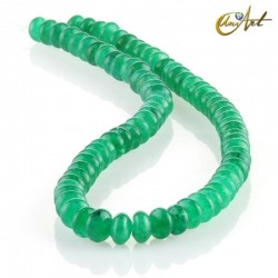 Jade verde – talla rondelle 8 x 5 mm