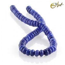 Jade azul – talla rondelle 8 x 5 mm