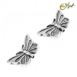 Mariposa, cuentas de metal (15 uds)
