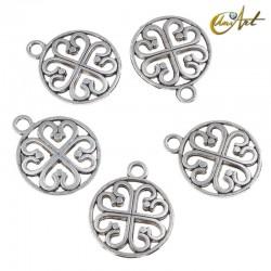 Circular clover pendant, 10 pieces