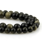 Obsidian stone for necklaces and bracelets